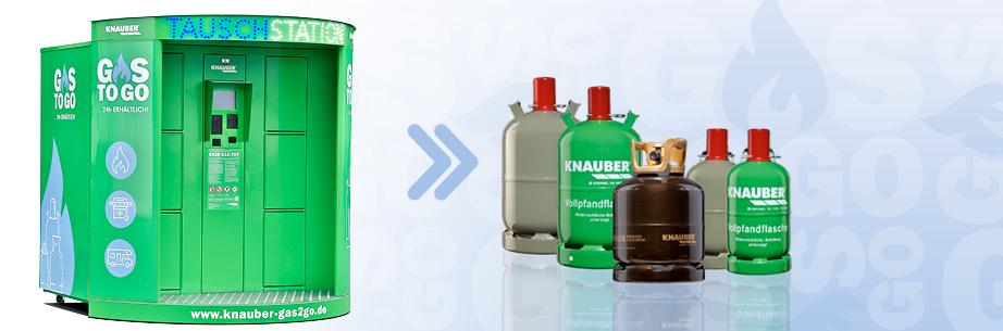 Propangas - Tauschautomat für Propangasflaschen von Knauber